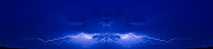 Judgement day. Face of Demon made of  lightning Royalty Free Stock Photos