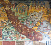 Judgement Day depicted in the fresco on the walls of Horezu Mona Royalty Free Stock Photography