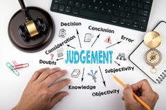 Judgement Law and justice concept royalty free stock images