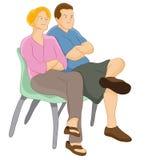 Judgemental Ouders royalty-vrije illustratie