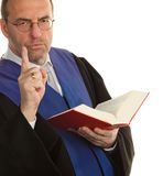 Judges with Code and Justice royalty free stock image