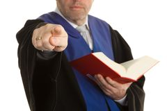 Judges with Code and Justice. A judge with a law book in court. With Justice figure in the hand Royalty Free Stock Images