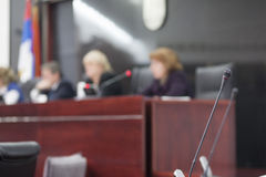 Judges at court house Stock Photo