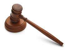 Judges Gavel. Back View of Gavel Isolated on White Background stock photography
