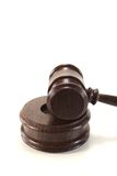 Judges gavel of brown wood Stock Images