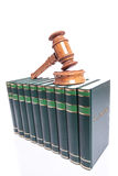 Judges gavel on law books Royalty Free Stock Photos