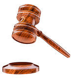 Judges gavel, wooden hammer Royalty Free Stock Photography
