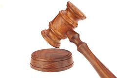 Judges or Presiding Officer or Auctioneers Hardwood Gavel Royalty Free Stock Image