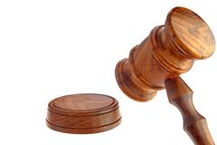 Judges or Presiding Officer or Auctioneers Hardwood Gavel Royalty Free Stock Images