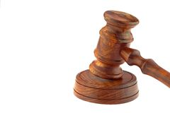 Judges or Presiding Officer or Auctioneers Hardwood Gavel Stock Images