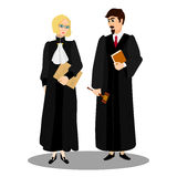 Judges in professional robes Stock Image