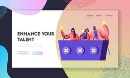 Judges Voting with Golden Stars on Talent Show or Artists Stage Audition. Celebrities Judging Participants during Entertainment. Website Landing Page, Web Page royalty free illustration