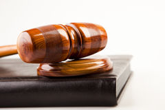 Judges wooden gavel Stock Photos