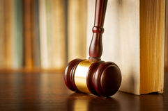Judges wooden gavel Stock Images