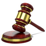Judges wooden hammer Royalty Free Stock Photo