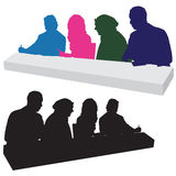 Judging Panel Silhouette Stock Photos