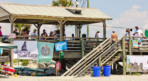Judging the 2015 Wahine Surf Classic Stock Images