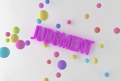 Judgment, business conceptual colorful 3D rendered words. Title, graphic, message & typography. Judgment, business conceptual colorful 3D rendered words vector illustration