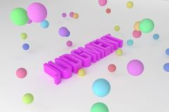 Judgment, business conceptual colorful 3D rendered words. Typography, rendering, creativity & alphabet. Judgment, business conceptual colorful 3D rendered words royalty free illustration