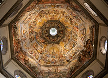 The Judgment Day, inside the Dome of Florence Stock Photos