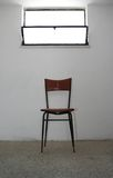 Judgment Day Meeting. / One Old Chair royalty free stock photo