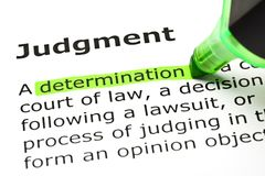 Judgment Dictionary Definition Green Marker Royalty Free Stock Images