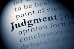 Judgment Royalty Free Stock Images