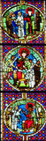 The Judgment of Solomon - Stained Glass Royalty Free Stock Photo