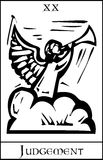 Judgment Tarot Card royalty free illustration