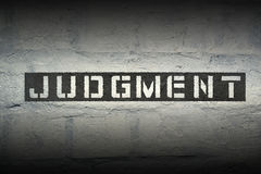 Judgment WORD GR Royalty Free Stock Images