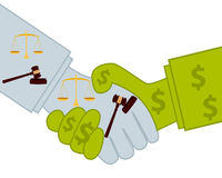 Judicial bribery Stock Photo