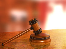 Judicial 3d gavel Stock Photography