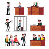 Judicial System Icons Set Royalty Free Stock Photography