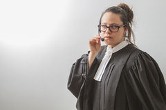 Judiciary help on the phone Stock Image