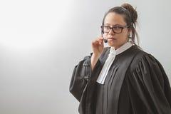 Judiciary help on the phone Stock Image