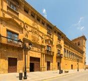 Judiciary Palace in Soria. Castilla y Leon, Spain. Judiciary Palace (Palacio de los condes de Gomara, build in 1592) in Soria. Castilla y Leon, Spain stock images