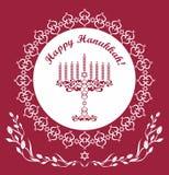 Judisk bakgrund för Hanukkah ferievektor stock illustrationer
