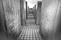Judisk förintelseminnesmärke, Berlin Germany arkivfoton