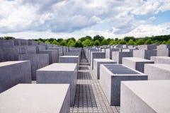 Judisk förintelseminnesmärke nära den Brandenburg porten Royaltyfri Foto