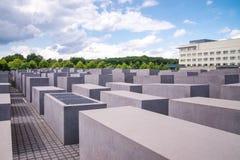 Judisk förintelseminnesmärke nära den Brandenburg porten Royaltyfri Bild
