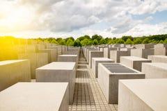 Judisk förintelseminnesmärke nära den Brandenburg porten Arkivbild