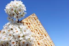 Judisk ferie av påskhögtiden och matzoen arkivbild