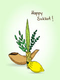 Judisk ferie Sukkot royaltyfri illustrationer