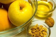 Judisk ferieRosh Hashanah (nytt år) beröm med honung a Arkivbild