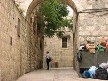 Judisk fjärdedel i Jerusalem den gamla staden israel Royaltyfria Foton