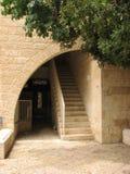 Judisk fjärdedel i Jerusalem den gamla staden israel Arkivbilder