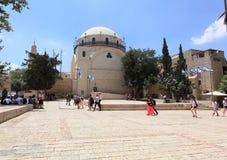 Judisk fjärdedel Jerusalem för Hurva synagoga Arkivfoton
