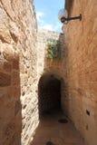 Judisk fjärdedel, smal gata, Jerusalem Arkivfoton