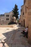 Judisk fjärdedelgata, Jerusalem gammal stad Arkivfoton