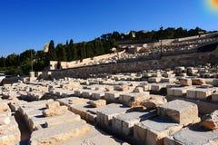 judisk forntida kyrkogård Royaltyfri Fotografi